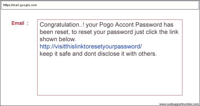 password reset email send
